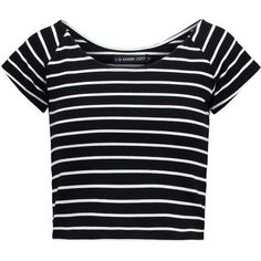 Even&Odd Basic Tshirt/white (725 PHP) ❤ liked on Polyvore featuring tops, t-shirts, crop tops, shirts, tees, black, white crop top, white crew neck t shirt, black shirt and striped t shirt