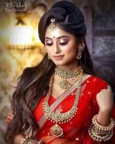 Bengali Bridal Makeup, Bengali Wedding, Bengali Bride, Indian Bridal Fashion, Bridal Make Up, Bridal Looks, Bridal Makeup Pictures, 1 Vs 1, Beautiful Indian Brides