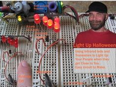 Light Up Halloween — DIY How-to to light up props when people get near them from Make: Projects