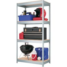 Utility Shelves Walmart Gorgeous Plano 4Shelf Storage Unit Light Taupe  I See How I Can Turn This Inspiration Design