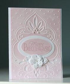 Birthday card - marianne designs embossing