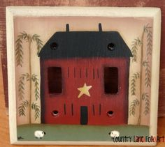 Hand painted switch plate cover  www.countrylanefolkart.com