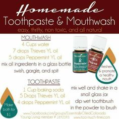 Homemade Toothpaste and Mouthwash