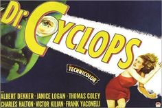 VINTAGE MOVIE POSTER dr. cyclops SCARY psychological nail biter 24X36 HOT