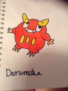 Darumaka! #Pokemon (P.S All drawings were free-hand, all I did was look at pictures.)