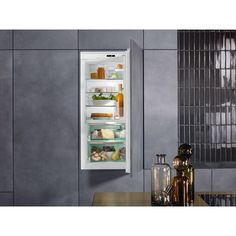 This Miele KFN 37692 iDE Frost Free Integrated Fridge Freezer with stylish White finish looks great in any home. Integrated Fridge, Kitchens, Kitchen Appliances, French Door Refrigerator, Joinery, Integrity, Freezer, Frost, Lab