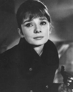A tearful Audrey Hepburn