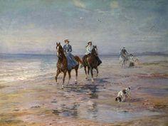 """""""A Ride on the Beach, Dublin"""" von Heywood Hardy (geboren am 25. November 1842 in Chichester, gestorben im Jahr 1933 in West Sussex), englischer Maler und Grafiker des Spätimpressionismus."""
