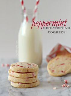 Peppermint Shortbread Cookies from @Rachel Cooks | Rachel Gurk