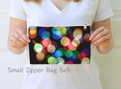 Rainbow/Black Hollywood Starlet Abstract Bokeh Artsy Photo Zipper Glam Bag/Pouch/Clutch/Mini Purse~Cosmetic/Accessory/Tablet Bag Small/Large by NaturalLightStudio on Etsy
