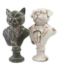 Look at this #zulilyfind! Regal Cat & Dog Bust Set #zulilyfinds