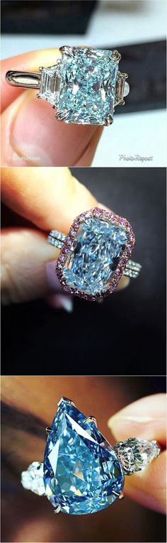 Stunning #rare #fancy #bluediamond #ring