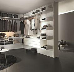 Sectional custom walk-in wardrobe NOVENOVE by Lema