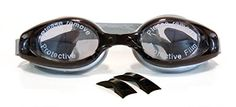 Swimming Goggles Adult Glasses AntiFog Lens Comfort Fit and UV protection Black Gray * Click on the image for additional details.