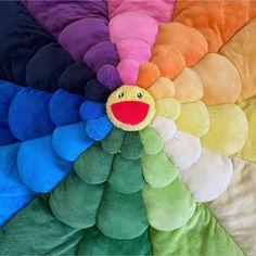 Murakami Flower, Takashi Murakami, Artist Art, Flower Power, Dinosaur Stuffed Animal, Pastel, Throw Pillows, Flowers, Artists
