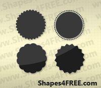Free Shapes for Photoshop: 35+ Photoshop Badge Shapes | Photography