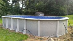 Harmony Above Ground Oval Swimming Pool http://www.abovegroundpoolbuilder.com/pool/harmony-package/