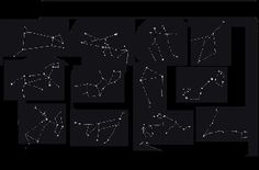 the stars forming the constellations of the zodiac