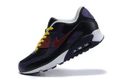 official photos 1e39a 8d9b9 Buy Nike Air Max 90 Mens Black Purple Wine Red Training Shoes TopDeals  774450 from Reliable Nike Air Max 90 Mens Black Purple Wine Red Training  Shoes ...