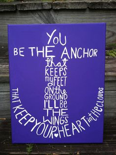 Canvas Painting - Anchor. $22.00, via Etsy.