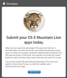 Apple Now Accepting Mountain Lion Apps