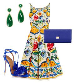 """Vibrant Colors by Dolce & Gabbana"" by arta13 on Polyvore featuring Dolce&Gabbana, Aquazzura and Susan Hanover"