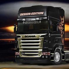 Scania screen sticker outline style