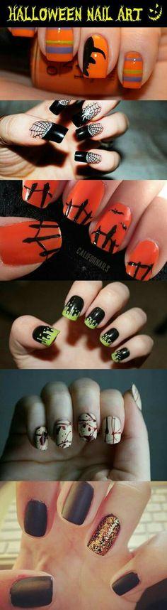Cute Fall Halloween Nails