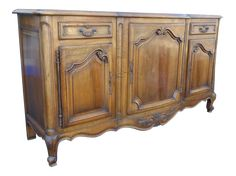 Antique 19th Century French Louis XV Buffet Sideboard | Chairish
