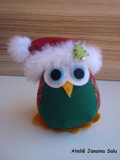 Christmas Owls, Diy Christmas Ornaments, Christmas Deco, Homemade Christmas, Sock Crafts, Bird Crafts, Felt Crafts, Diy And Crafts, Sock Dolls