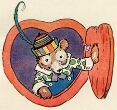 Old Design Shop ~ free printable: Little Brown Bear Vintage Images, Retro Vintage, Bear Valentines, Bear Pictures, Little Brown, Brown Bear, American Artists, Digital Image, Raggedy Ann
