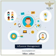 You influence, we'll manage!  We provide Influencer management services.  Make your brand more visible through influencers by reaching Millions of audience.  #influencermanagement #rpmgdigitech #digitalmarketing