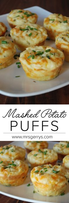 Everyone will love this quick and easy recipe for mashed potato puffs using Mrs. Gerry's Premium Mashed Potatoes. Everyone will love this quick and easy recipe for mashed potato puffs using Mrs. Gerry's Premium Mashed Potatoes. Easy Potato Recipes, Mashed Potato Recipes, Potato Dishes, Mashed Potato Casserole, Easy Recipe For Mashed Potatoes, Recipe For Potato Puffs, Chicken Recipes, Recipes Potatoes Side Dishes, Potatoes In Muffin Tin Recipe
