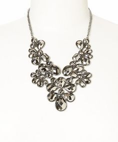 Another great find on #zulily! Silver Faceted Flower Bib Necklace #zulilyfinds