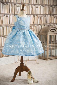 子供ドレス 花柄スクエアネックオーガンジードレス 120-160cm   120-130cm  キャサリンコテージ kids dress