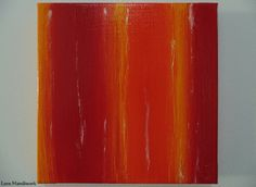 Red Yellow & Orange with White Abstract Square by LoveHandyWork Abstract Paintings, Orange, Yellow, Etsy Shop, Amp, Artwork, Color, Work Of Art, Auguste Rodin Artwork