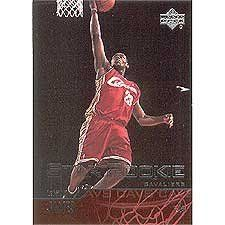"""LeBron James 2003/2004 Upper Deck Basketball """"Star Rookie"""" Near Mint to Mint Rookie Card #301 Shipped in Protective Screw Down Holder! by Upper Deck. $39.95. LeBron James 2003/2004 Upper Deck Basketball """"Star Rookie"""" Near Mint to Mint Rookie Card #301 Shipped in Protective Screw Down Holder! (Please note, the white spot shown on the right side of the scan is actually a light in the background behind Lebron, not a mark)"""