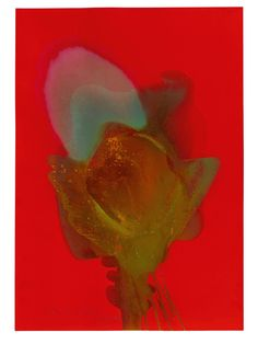 Otto Piene, Note the Purple, 1974, Ludorff Fire gouache on cardboard