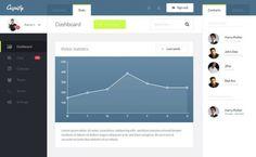 Бесплатный дизайн админ-панели Cupify в PSD-формате