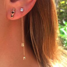 Diamond Earrings, Casual Fridays, Jewels, How To Wear, Fashion, Moda, Dress Down Friday, Bijoux, La Mode