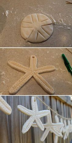 Hang these salt dough starfish on a piece of jute to make a cute garland for kid's bedroom.