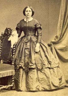 Handkerchiefs, larger than 21st Century versions, were common accessories. 1850s. The Barrington House.