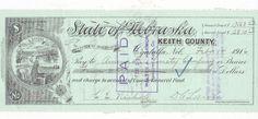 STATE OF NEBRASKA, OGALALLA, KEITH COUNTY WARRANT 1916  VIGNETTE BLACKSMITH