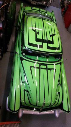 Voodoo Larry's Voodoo Kreeper we did the glass work on. 1954 Chevy