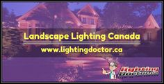 Landscape lighting can add beauty as well as enhance the safety of your home. See more about landscape lighting here:- www.lightingdoctor.ca #LandscapeLightingCanada #LightingDoctor #Lighting #Calgary #Alberta #Canada Landscape Lighting, Alberta Canada, Calgary, Safety, Wellness, Ads, Beauty, Security Guard, Beleza