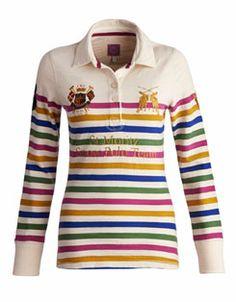 COVINGTON Womens Long Sleeved Polo