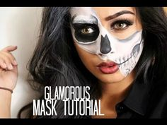 Glamorous Half Skull Mask Tutorial. Link download…