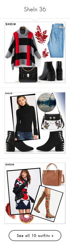 """SheIn 36"" by goldenhour ❤ liked on Polyvore featuring AG Adriano Goldschmied, H&M, WithChic and Taya"