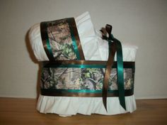 Hunter green camo camouflage diaper bassinet by theperfectbabygift, $15.00