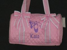 Possible dance bag for Kyla!  Personalized 13 Quilted Dance/Ballet Duffle by kozykidzboutique, $30.95